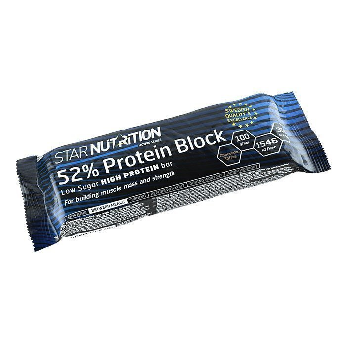 Star Nutrition 52% Protein Block 100 g Chocolate Toffee