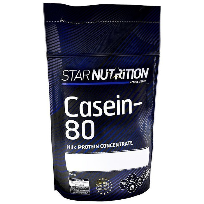 Star Nutrition Casein-80 750 g Strawberry Milkshake