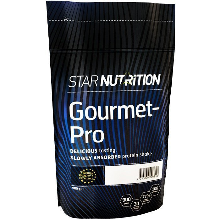 Star Nutrition Gourmet-Pro 900 g Strawberry Milkshake