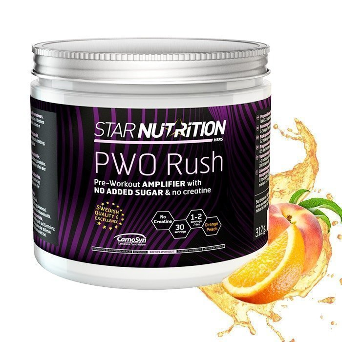 Star Nutrition PWO Rush 300 g Orange-Peach