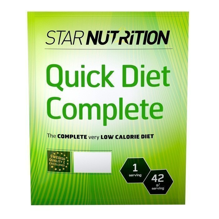 Star Nutrition Quick Diet Complete 1 Pussin Mansikka
