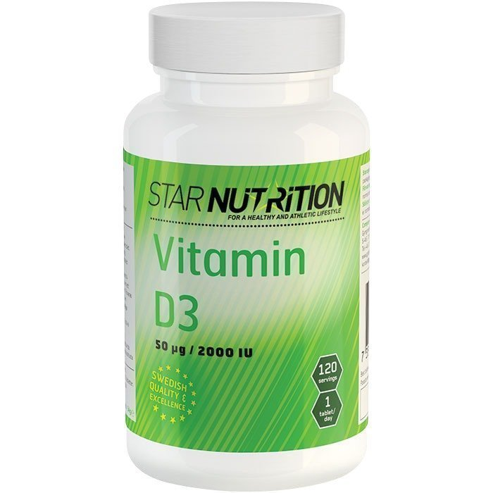 Star Nutrition Vitamin D3 120 tabs