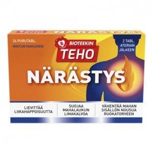 Suomen Bioteekin Teho Närästys 24 Tablettia