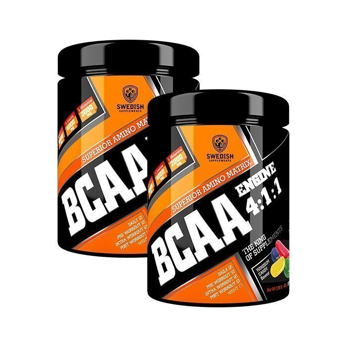 Swedish Supplements 2 x BCAA Engine 4:1:1 400 g Winegum Candy