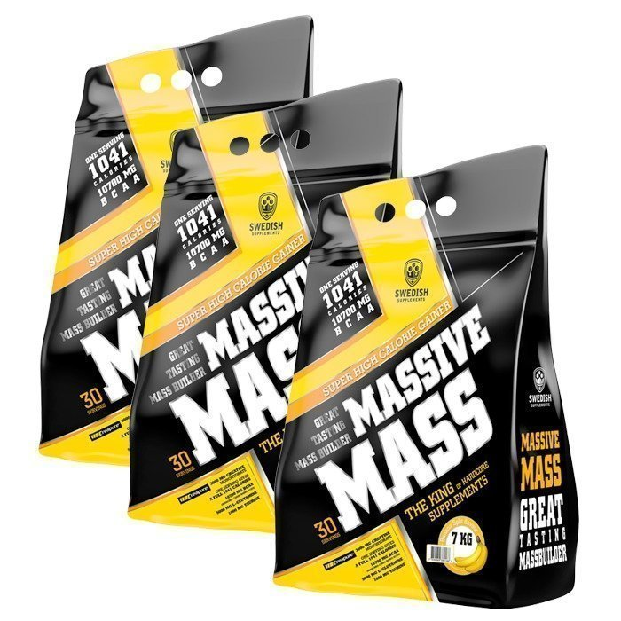 Swedish Supplements 3 x Massive Mass 7000 g