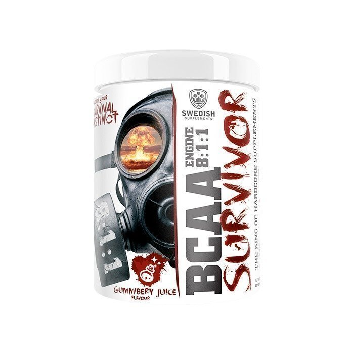 Swedish Supplements BCAA Survivor 400 g Gummiberry Juice