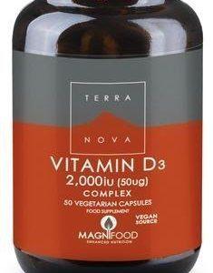 Terranova D3-Vitamiini 50 Ug Complex