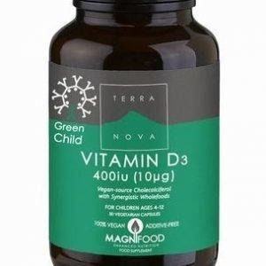 Terranova Green Child D3-Vitamiini 10 Mikrog