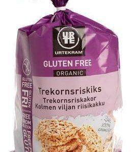 Urtekram Gluteeniton Luomu Kolmen Viljan Riisikakku