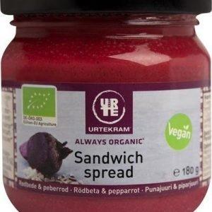 Urtekram Luomu Sandwich Spread Punajuuri & Piparjuuri