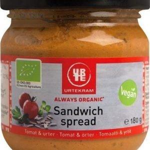 Urtekram Luomu Sandwich Spread Tomaatti & Yrtit