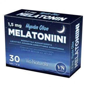Via Naturale Hyvän Olon Melatoniini 1