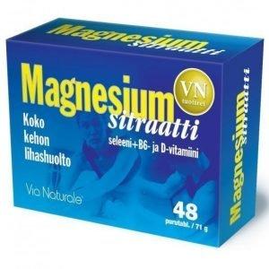 Via Naturale Magnesiumsitraatti + Seleeni&D-vitamiini