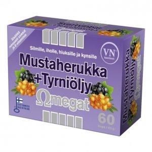 Via Naturale Mustaherukka + Tyrniöljy 60kpl