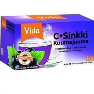 Vida C+Sinkki Kuumajuoma Mustaherukka
