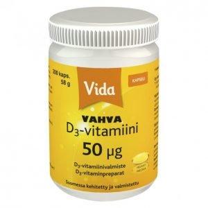 Vida D3-Vitamiini 200 Kpl 50 Μg