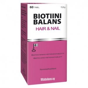 Vitabalans Biotiini Balans 60 Kpl Hair & Nail