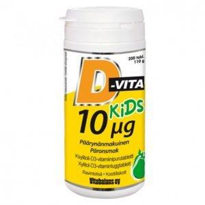 Vitabalans D-Vita Kids 200kpl Päärynä