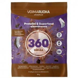 Voimaruoka 360 Wholefood Suklaa 50 G