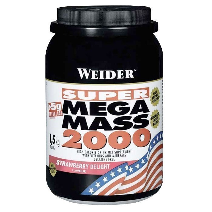 Weider Mega Mass 2000 1500 g Strawberry